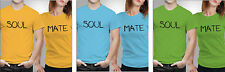 iberrys-Couple Tshirts-DryFit Polyester Soul Mate- Yellow-Green-Blue Colour