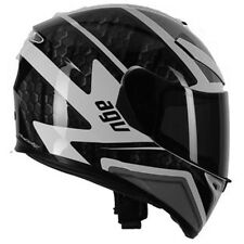 AGV K3 SV Pulse DVS Full Face Motorcycle Helmet - White Black Gun