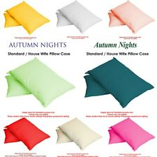 Luxury Plain Dyed Poly Cotton Housewife Single/Pair Bed Room Pillow Cases/Covers