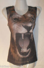 PRIMARK LADIES LION FESTIVAL VEST TOP SLEEVELESS T TEE SHIRT NEW 10 - 14