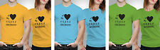 iberrys Couple Polyester Tshirts-My Crazy Boyfriend-Yellow-Green-Blue Colour