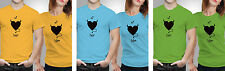 iberrys Couple Polyester Tshirts- I love him- Yellow-Green-Blue Colour