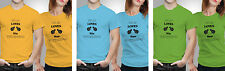 iberrys Couple Polyester Tshirts-Guy love boyfriend-Yellow-Green-Blue Colour