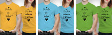 iberrys Couple Polyester Tshirts I Stole heart his -- Yellow-Green-Blue Colour