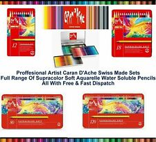 Caran Dache Supracolor Soft Aquarelle Artist Sketching Water Colour Pencils Set
