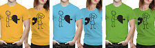 iberrys Couple Polyester Tshirts- Love-Puzzle- Yellow-Green-Blue Colour
