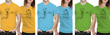 iberrys Couple Polyester Tshirts- Love Bond- Yellow-Green-Blue Colour