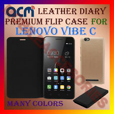 ACM-LEATHER PREMIUM FLIP FLAP CASE for LENOVO VIBE C MOBILE FRONT & BACK COVER