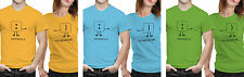 iberrys Couple Polyester Tshirts-  Happiness- Yellow-Green-Blue Colour
