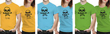 iberrys Couple Polyester Tshirts-  You are Perfect- Yellow-Green-Blue Colour