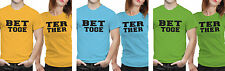 iberrys Couple Polyester Tshirts-  Better Together- Yellow-Green-Blue Color