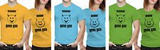 iberrys Couple Polyester Tshirts- Sweet & Naughty-Green-Blue Colour