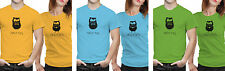 iberrys Couple Polyester Tshirts-Made for Other-Green-Blue Colour