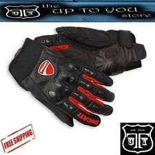 Ducati Flow Leather Gloves Motorcycle Motorbike Gloves Brand New 2016 Sale Cheap