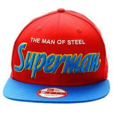 NEW ERA - 9FIFTY SNAP BACK CAP. REVERSE HERO WORD SUPERMAN OFFICIAL. red/blue