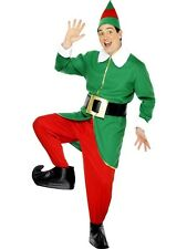 Adult Deluxe Christmas Helper Elf Gents Fancy Dress Costume Xmas Outfit