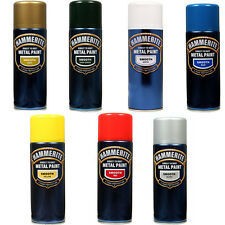 Hammerite Metal Paint Aerosol 400ml Smooth All Colours Silver/Red/Blue/White