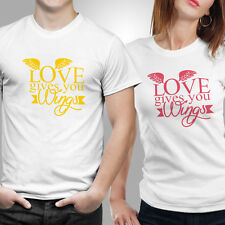 iberrys-Couple Tshirts DryFit Polyester- Love-Wings