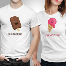 Couple Tshirts-  Smiling Meltin (by iberrys)