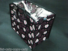 ECO FRIENDLY CUTE BLACK PINK LOVE HEARTS LUNCH SHOPPING TRAVEL BAG FREE UK POST