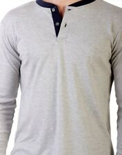 Branded Imported 100% Genuine Cotton Henley Neck Collar Men's T-shirt Tshirt