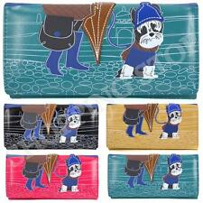 Fashion Ladies Faux Leather Cute Dog Bifold Coin Purse Womens Wallet Card Holder