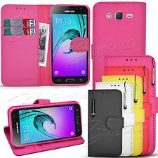 For SAMSUNG GALAXY J7 J700H Wallet Leather Case Flip Cover + Screen Protector