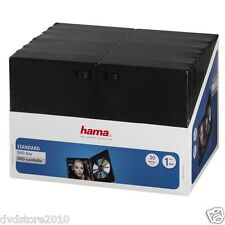 HAMA Custodie DVD SINGOLE Jewel Case Nere Box 1 posto Holder 14 mm CD H11495