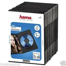 HAMA Custodie DVD SINGOLE Jewel Case Nere Box 1 posto Holder 7 mm CD H51182