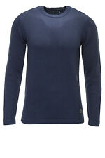 Jack & Jones Herren Strickpullover Concrete O-Neck Men Jumper Sweater Knit Blue