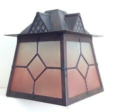 Arts And Crafts style vintage lantern hanging ceiling porch lamp light