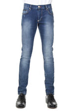 PHILIPP PLEIN Men New Blue Cotton Stretch Slim INDIVIDUAL Jeans Pants Trousers