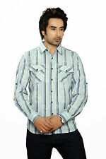 Moksh Men's Striped Casual Shirt I0414MS11LS