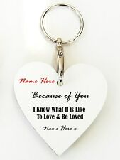 Personalised Wooden Keyring -