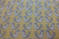 iliv SMD Scandi Mustard Birds Cotton Fabric.Curtains/Upholstery/Craft/Cushions