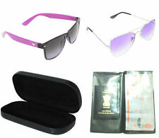 3COMBO OF AVIATOR,WAYFARER SUNGLASSES WITH FREE PASSPORT/TICKET/DOCUMENT FOLDER