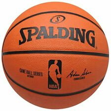 Spalding NBA Game Ball Series Outdoor Replica Basketball Orange Hoops Ball