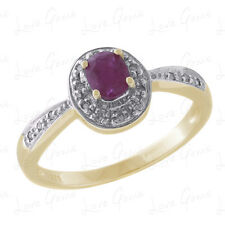 9ct Gold 0.40ct Ruby & Diamond Dress Ring WITH GEM CARD RRP £399.99 BLG10