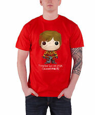Game of Thrones T Shirt Tyrion Lannister Bling Art Logo Official Mens New Red