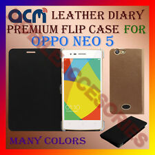 ACM-LEATHER PREMIUM FLIP FLAP CASE for OPPO NEO 5 MOBILE FRONT & BACK COVER