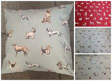 NEW CLARKE & CLARKE DOG BEST IN SHOW CUSHION COVERS VARIOUS COLOURS 17""