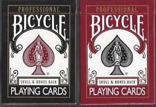 CARTE DA GIOCO BICYCLE SKULL & BONES BACK,poker size