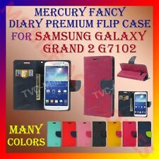 ACM-MERCURY RICH DIARY FLIP CASE for SAMSUNG GALAXY GRAND 2 G7102 WALLET COVER