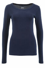 Vero Moda Damen Langarmshirt O-Neck Top T-Shirt Basic Shirt Navy Blau- 50%