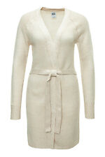Vero Moda Damen Strickjacke Cardigan Basic Casual Slim Fit Creme WOW