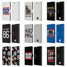 OFFICIAL RUN-D.M.C. KEY ART LEATHER BOOK WALLET CASE FOR SONY PHONES 2