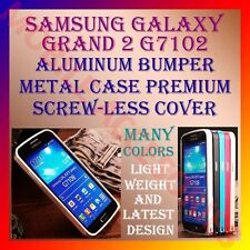 ACM-ALUMINUM BUMPER METAL CASE COVER SCREWLESS FRAME of SAMSUNG GRAND 2 G7102