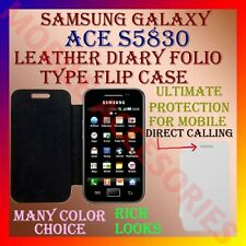 ACM-LEATHER DIARY FOLIO FLIP CASE for SAMSUNG GALAXY ACE S5830 MOBILE COVER CASE