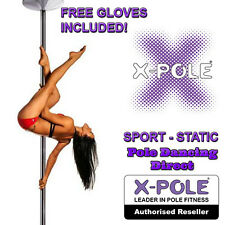 X-Pole SPORT - Chrome & Gold - 40mm-45mm-50mm - Professional Dance Dancing Pole