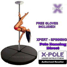 X-Pole SPINNING XPERT Chrome 45mm Professional Dance Pole & Crash Mat Packages
